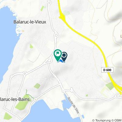 De 8 Chemin des Tamaris, Balaruc-les-Bains à 7 Chemin du Mas du Padre, Balaruc-les-Bains