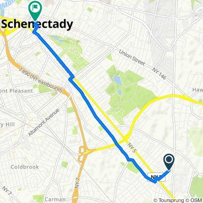 Shirley Drive 105, Schenectady to Liberty Street 431, Schenectady