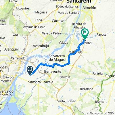 Route to Rua da Escola, Salvaterra de Magos