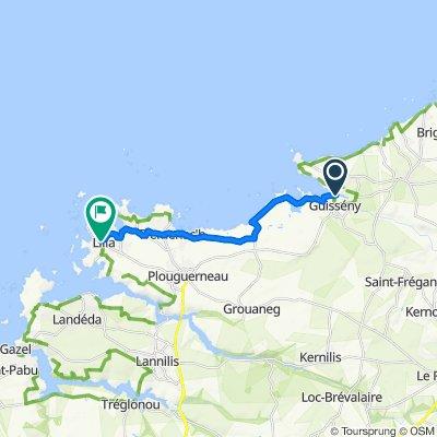 Route nach 1401–1514 Kervenni Vihan, Plouguerneau