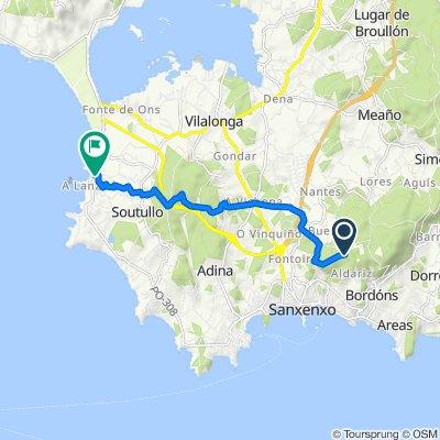 Route to Rúa A Lanzada, 116, Sanxenxo