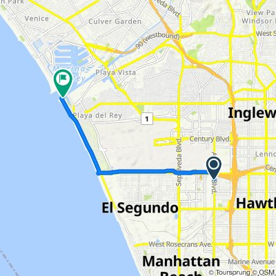 11608 Aviation Blvd, Inglewood to 6208–6284 Ocean Front Walk, Los Angeles