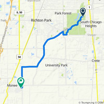 Forest Preserve Dr, South Chicago Heights to 4893 W Margaret St, Monee
