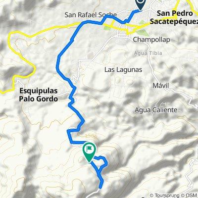De Unnamed Road, San Pedro Sacatepequez a Unnamed Road