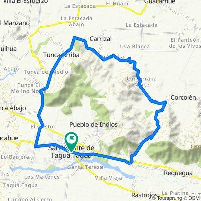 De Carmen Gallegos de Robles 333, San Vicente de Taguatagua a German Riesco 701, San Vicente de Taguatagua