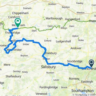 Day 2 - Winchester to Melksham on Gravel