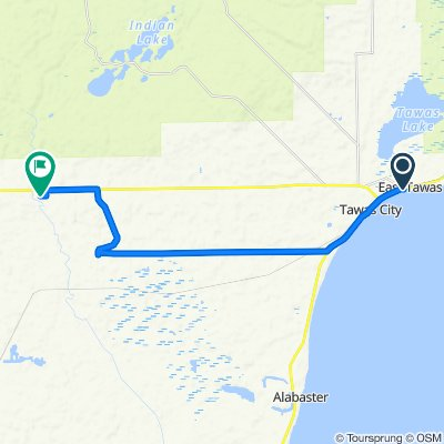 East Tawas  Park to Northern BP via Townline
