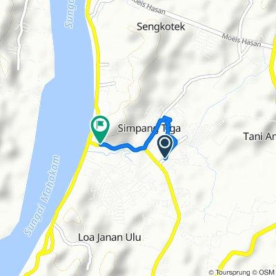 Jalan Soekarno Hatta 30, Kecamatan Loa Janan to Jalan Soekarno Hatta 5, Kecamatan Loa Janan