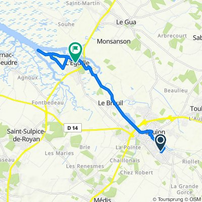 De 4 Impasse des Roses, Saujon à Chemin des Pêcheurs, L'Éguille