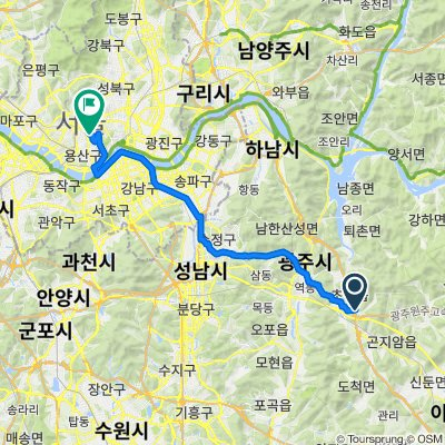Chowol-myeon 299-6, Gwangju-si to Yongsan 2(i)ga-dong 126