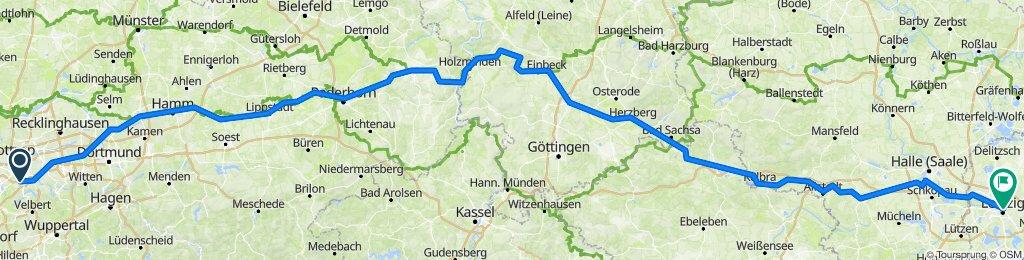 Radweg Essen-Leipzig