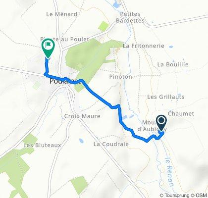De 7 Moulin d'Aubigny, Poulaines à 12 Rue de Siltzheim, Poulaines