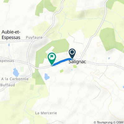 De 45 Avenue de la République, Salignac à 13–17 Avenue de la République, Salignac