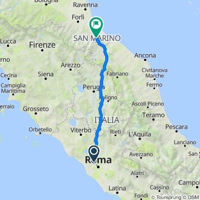 Da Via Casal del Marmo 206, Roma a Via Ca' Bartoletto 7, Cailungo