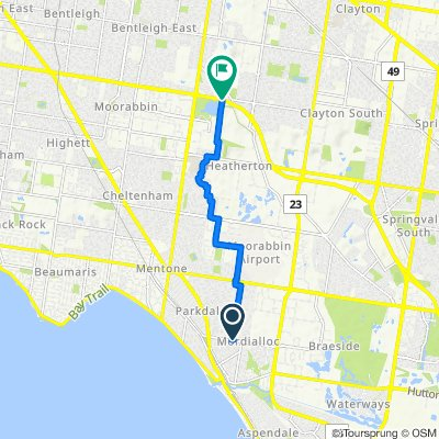 Warren Road, Mordialloc to Dingley Bypass