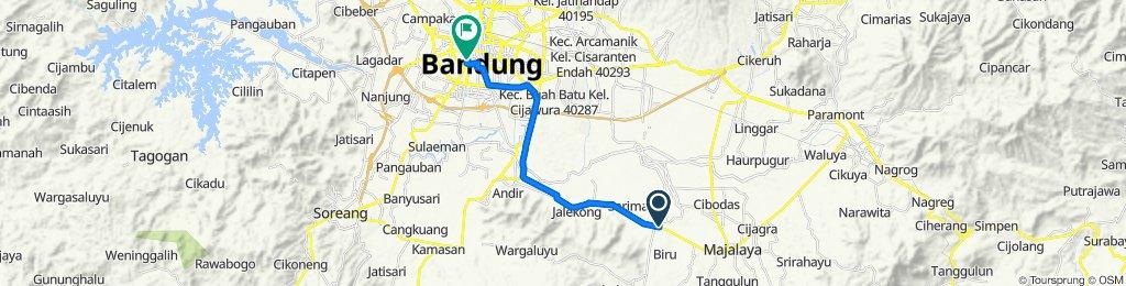 Jalan Toha Ramdan, Bandung to Jalan Kyai Haji Wahid Hasyim No. 100A, Bojongloa Kaler