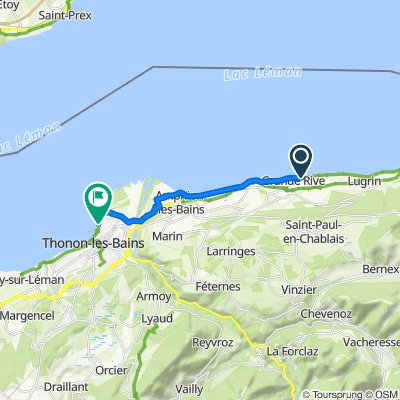 Itinéraire vers Quai de Ripaille, Thonon-les-Bains