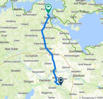 Schmarsow, Kruckow to Wilhelm-Brücke-Ring 21, Stralsund
