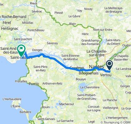 15 Rue des Pyrénées, Haute-Goulaine to Rue du Général de Gaulle, Saint-Nazaire
