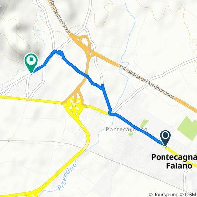 Da Via Giacomo Puccini 1–13, Pontecagnano Faiano a Via Ostaglio 52, Salerno