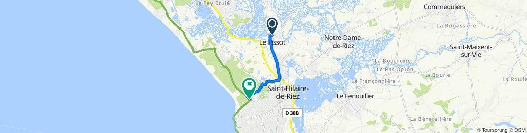 De 16 Chemin des Boues, Saint-Hilaire-de-Riez à Avenue des Mimosas, Saint-Hilaire-de-Riez