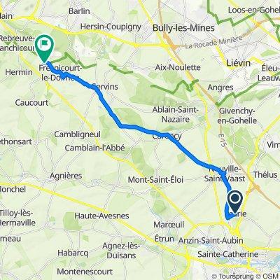 Itinéraire de Écurie à Château d'Olhain, Rue Léo Lagrange, Fresnicourt-le-Dolmen
