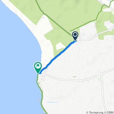 De Avenue de la Forêt, Saint-Hilaire-de-Riez à 1–5A Promenade de la Mer, Saint-Hilaire-de-Riez