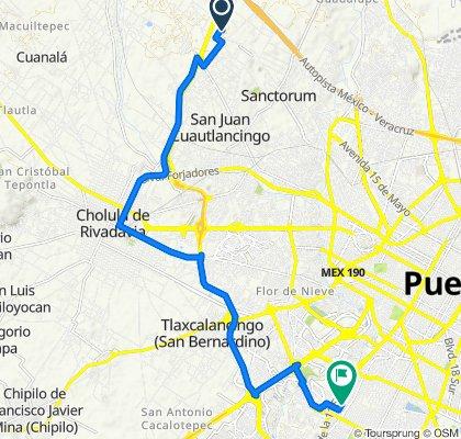 De Calle Fausto Ortega, Coronango a Calle 15 S 7929A, Puebla