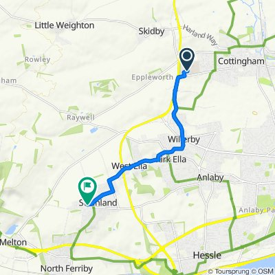 Route to 32 West End, North Ferriby