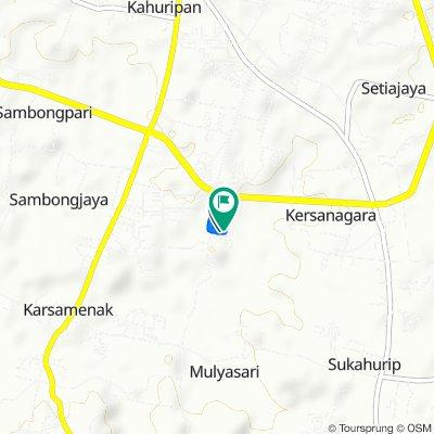 Jl. Padjadjaran II A9, Kecamatan Tamansari to Jl. Padjadjaran, Tamansari