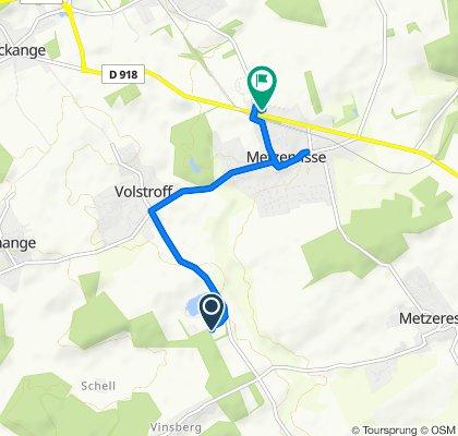 Route de Luttange, Volstroff naar Rue de l'Arc Mosellan 6D, Metzervisse