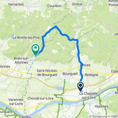 De 13 Rue des Ouches, La Chapelle-sur-Loire à Route des Loges, Brain-sur-Allonnes