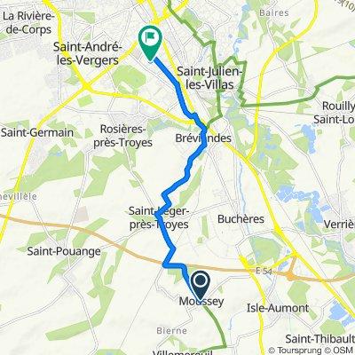 Rue aux Prêtres 5, Moussey to Rue de Verdun 86, Troyes