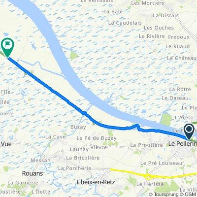 Route from 3–4 Quai du Docteur André Provost, Le Pellerin