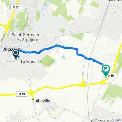 De 16 Boulevard Abel Cornaton, Arpajon à 4 Rue Michèle Morgan, Brétigny-sur-Orge
