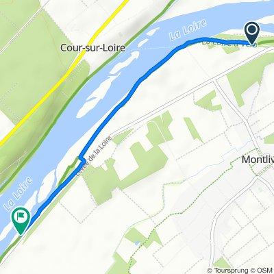 De D951, Montlivault à D951, Saint-Claude-de-Diray