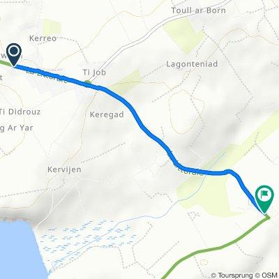 Itinéraire à partir de Ty Gwen, Plomodiern