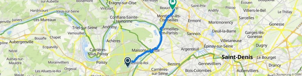 De Route Forestière des Brancas, Saint-Germain-en-Laye à 20 Rue des Lilas, Taverny
