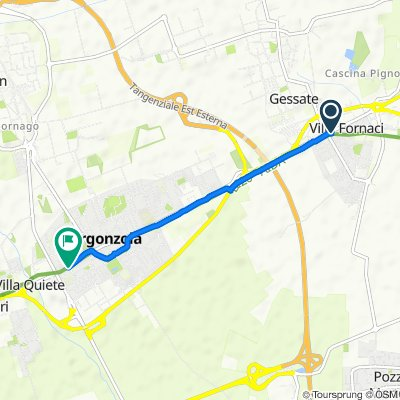 Via Padana Superiore 9, Bellinzago Lombardo to Via Milano 25, Gorgonzola