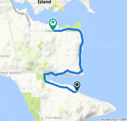 11162 NE Country Club Rd, Bainbridge Island to 4610 NE Eagle Harbor Dr, Bainbridge Island