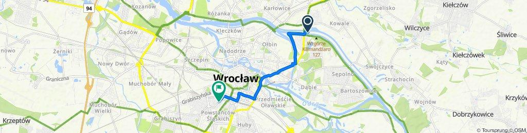 aleja Aleksandra Brücknera 91B, Wrocław do Zielińskiego 40, Wrocław