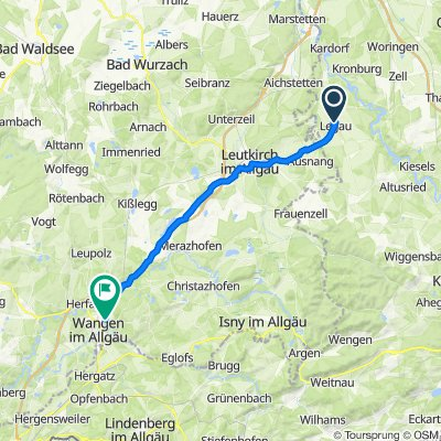 Hauptstraße 4A, Legau nach Am Engelberg 29, Wangen im Allgäu