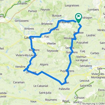 Barthe Couge, Saint-Julien-du-Puy naar Barthe Couge, Saint-Julien-du-Puy