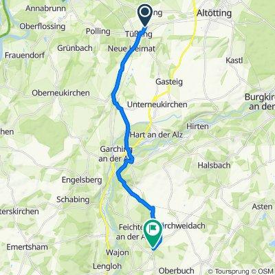 Graf-Toerring-Straße 43, Tüßling nach St2357, Feichten an der Alz