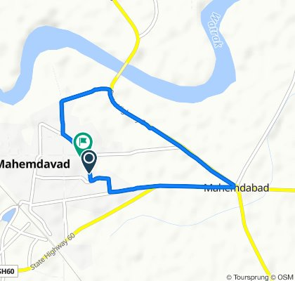 Unnamed Road, Mahemdavad to Unnamed Road, Mahemdavad