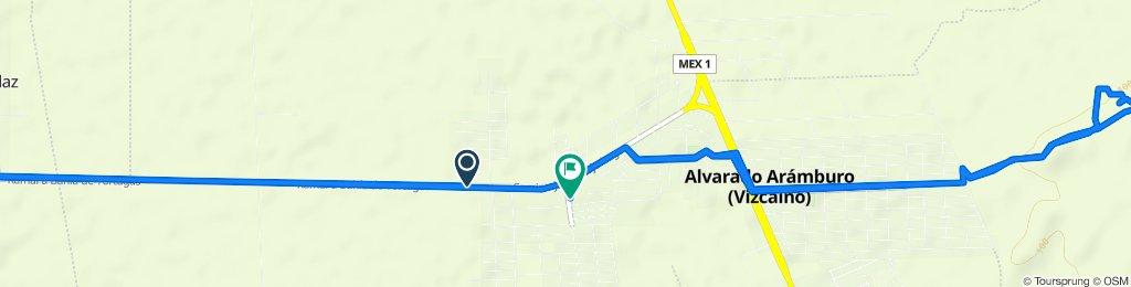 Ruta desde Carretera a Bahía de Tortugas, Mulegé