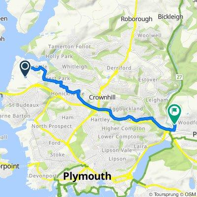 Ernesettle Lane, Plymouth do Coypool Road, Plymouth