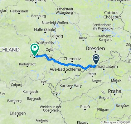 Geising - Jena, 2 Tage