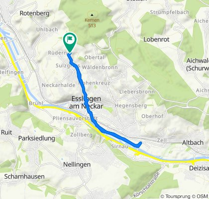 Gollenstraße 63/1–63/2, Esslingen am Neckar nach Gollenstraße 63/1, Esslingen am Neckar