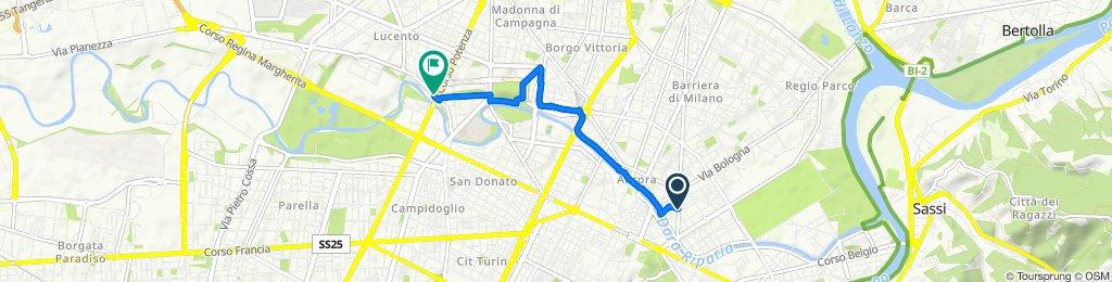 Corso Palermo 17, Torino to Via Pianezza 54, Torino